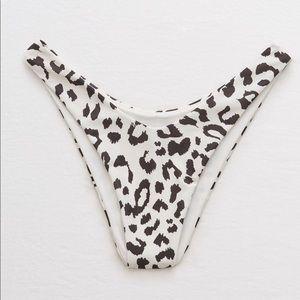 Aerie Leopard Cheekiest Bikini Bottom
